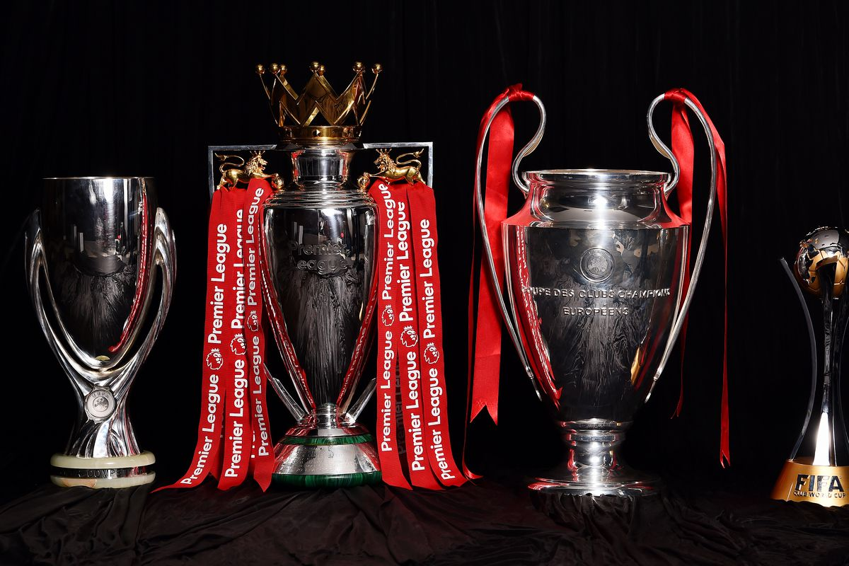 Liverpool Display Their Current Trophies at Anfield