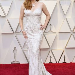 Amy Adams wears a Versace gown on the Oscars Red Carpet, Feb. 24, 2019. | Richard Shotwell/Invision/AP
