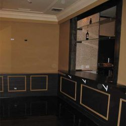The back room can hold private parties and has a pass-thru window to the main bar