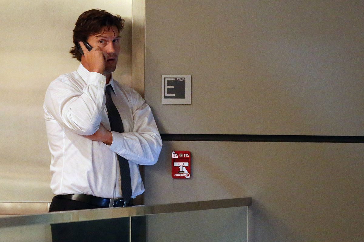 """""""Yeah babe, I totally just ended the lockout. I'm in room 416"""""""