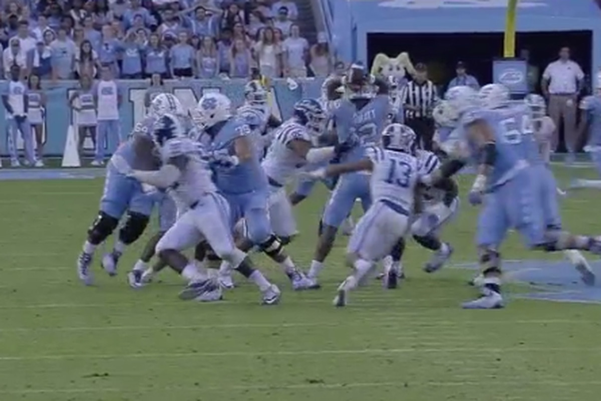 4554e8e80a27 The decisive play in Duke-UNC was a pick-6 off a soccer-style pass. Yes