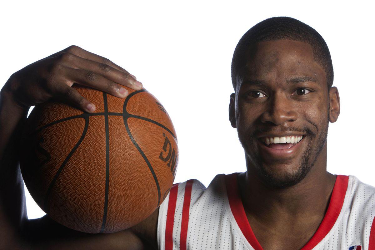Toney Douglas enjoys the basketball.