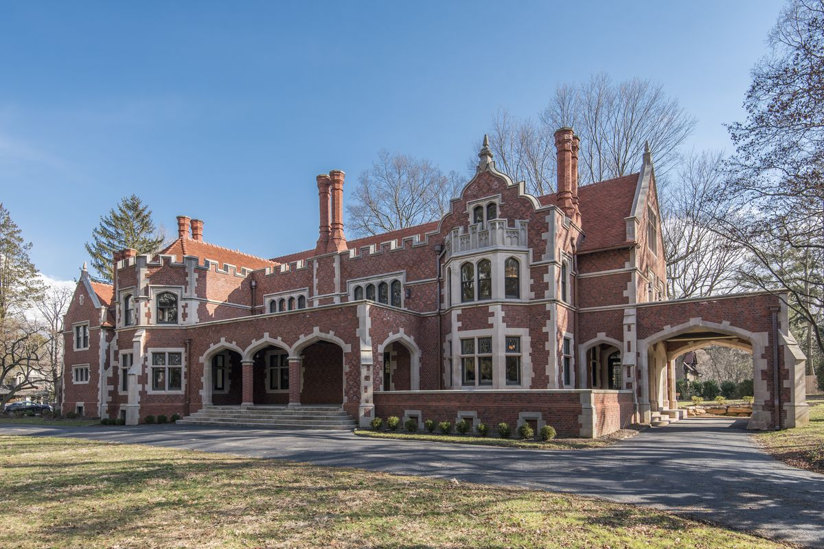 A Jacobean Revival style mansion in Wayne, PA.