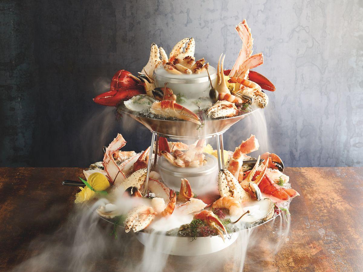 Mastro's Ocean Club seafood tower