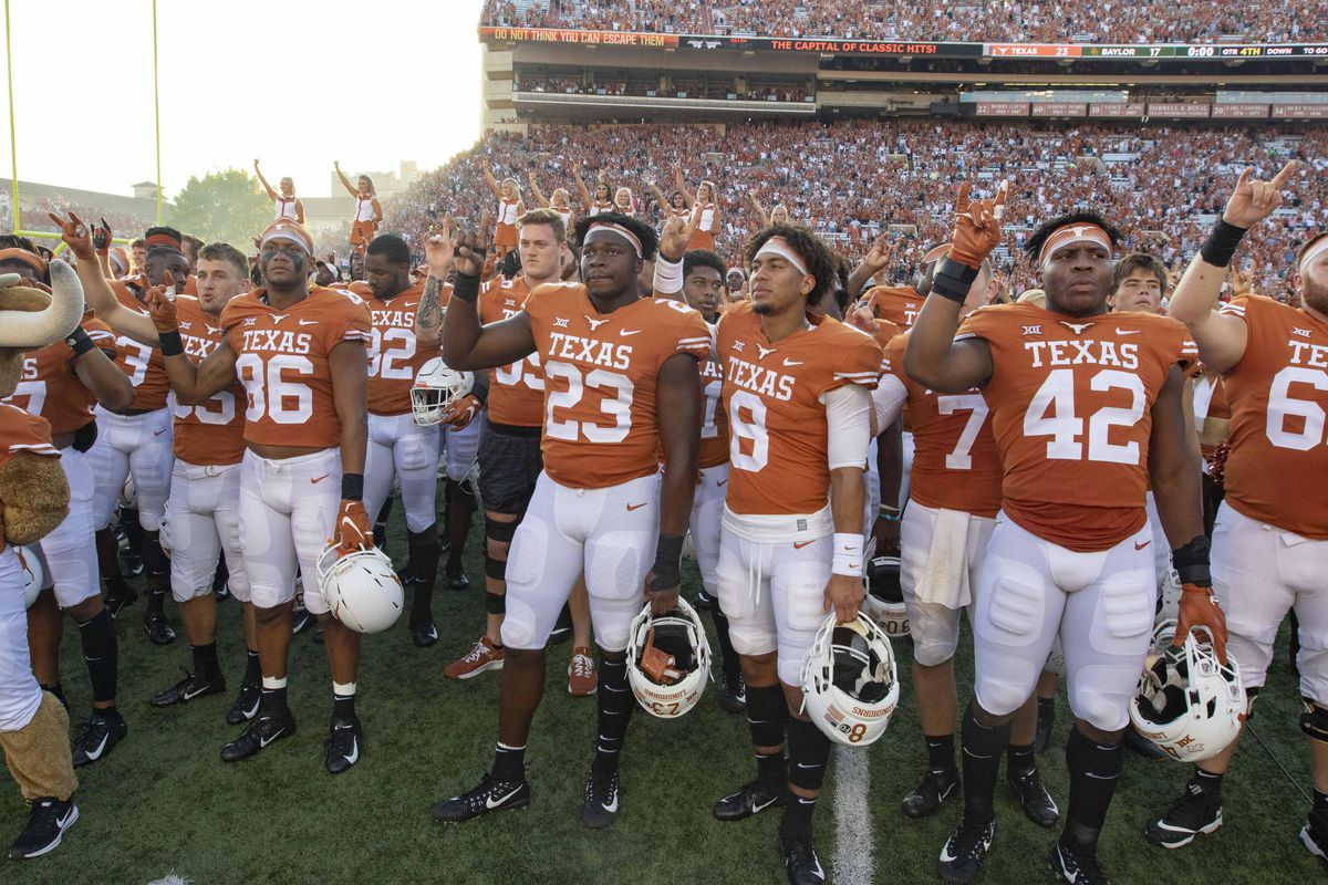Now 6 1 texas hasn t been bowl eligible this early since 2009