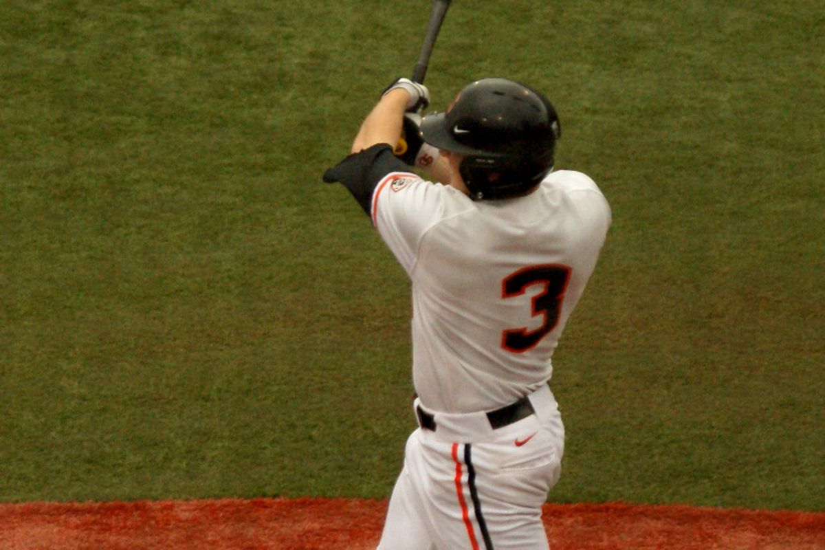 Kavin Keyes had 3 hits and a walk for Oregon St. Friday night, driving in 2 runs and scoring twice, including a 5th inning homer that put the Beavers up 7-0. It wasn't enough to overcome the Cougars though.