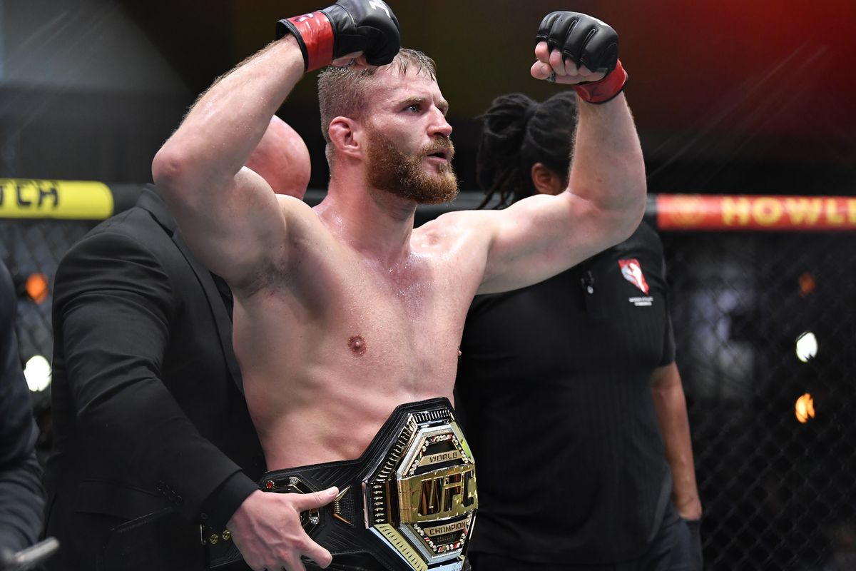 Jan Blachowicz after his fight with Israel Adesanya at UFC 259.
