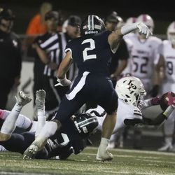 Lone Peak and Corner Canyon compete at Corner Canyon High School in Draper on Thursday, Oct. 7, 2021.
