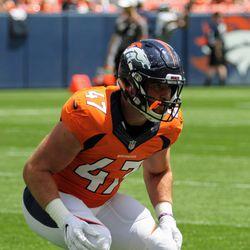 Denver Broncos ILB Josey Jewell keeps his eyes focused.