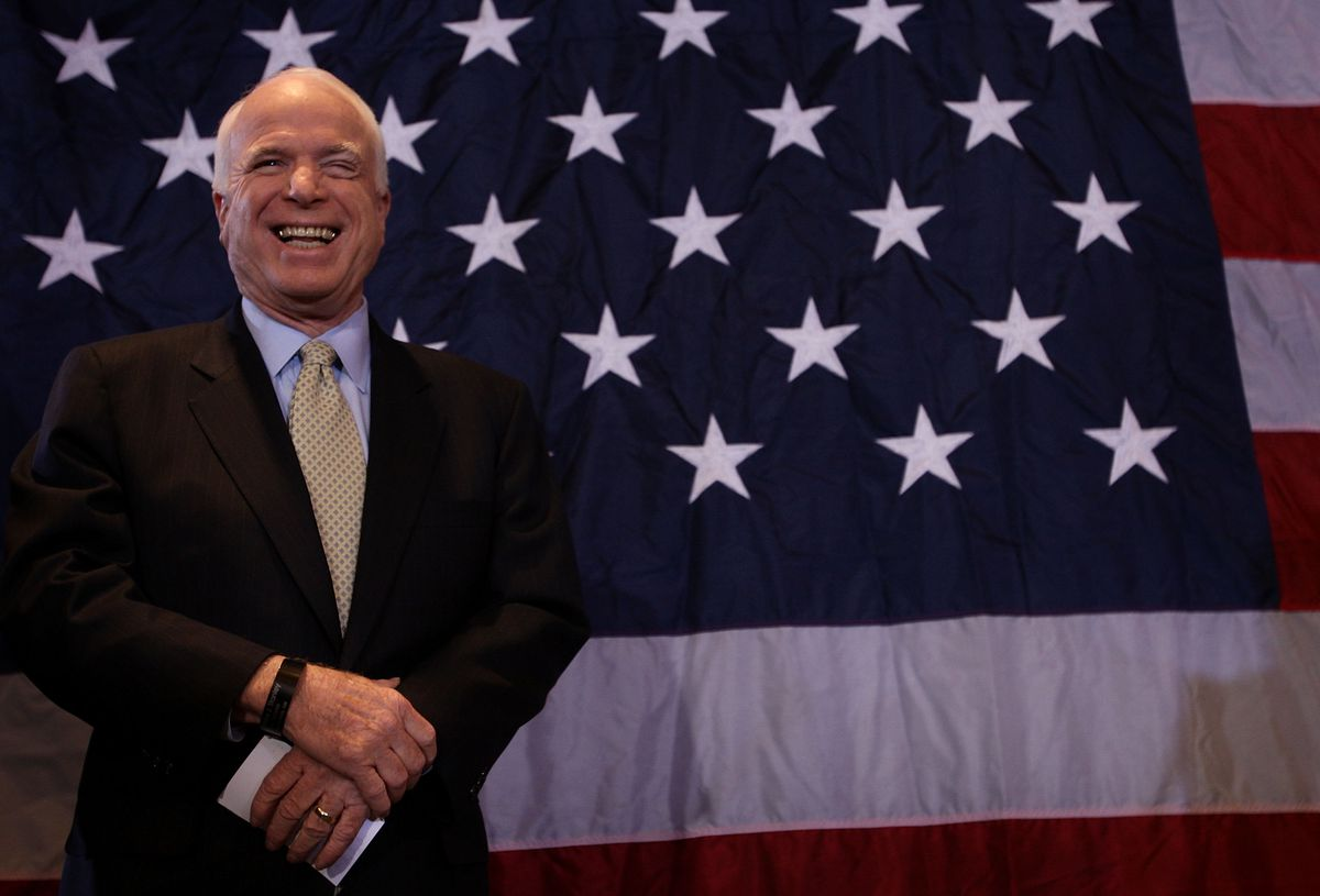 John McCain Campaigns In Wisconsin Ahead Of Primary