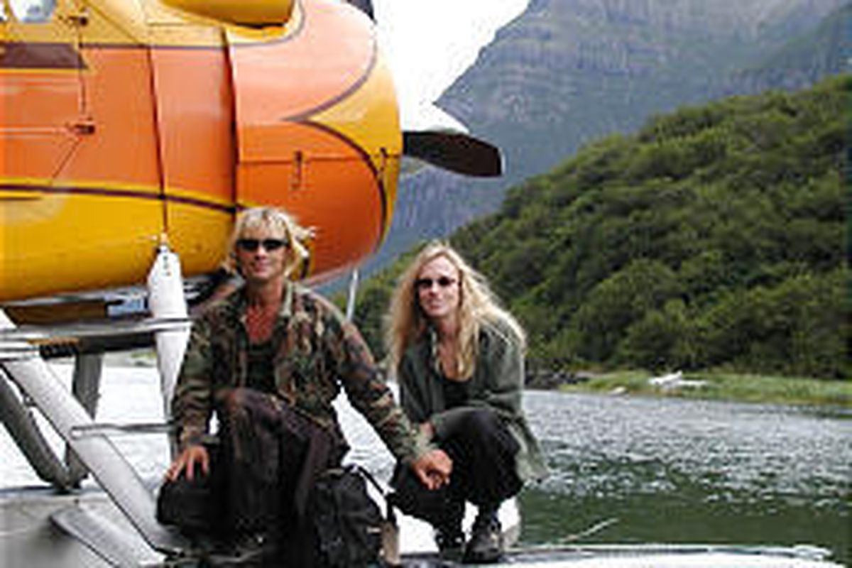 """The late animal activist Timothy Treadwell and Amie Huguenard in Alaska in """"Grizzly Man."""""""