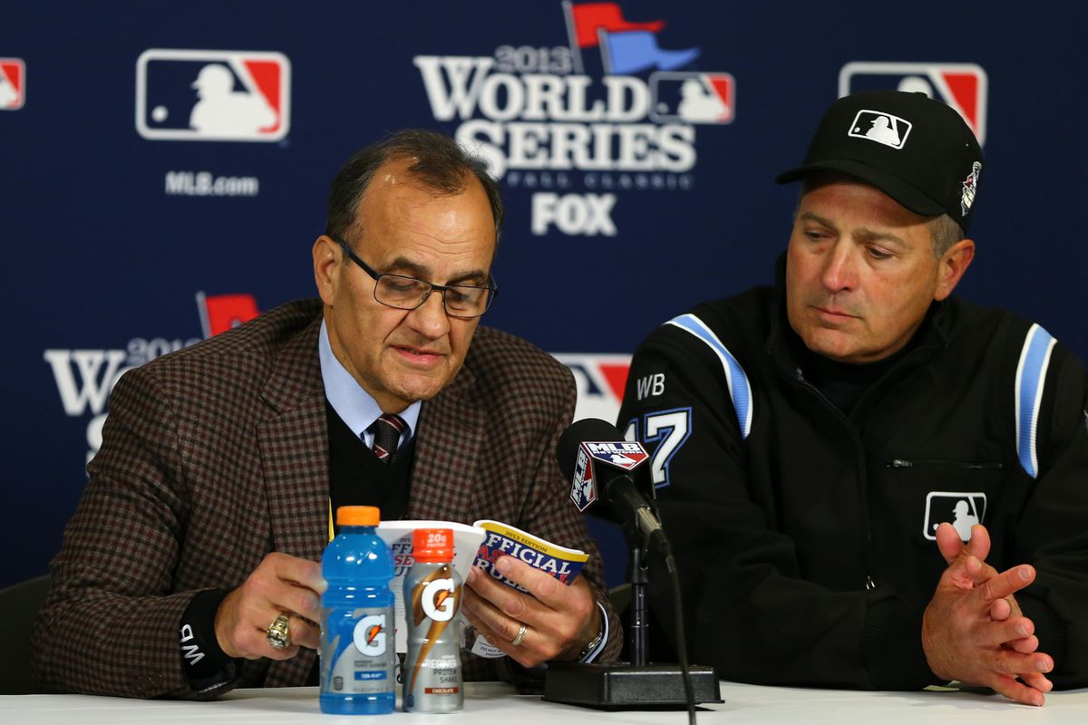 Joe Torre reads Where the Wild Things Are to a restless press corps.