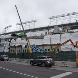 The south side of the ballpark, along Addison Street