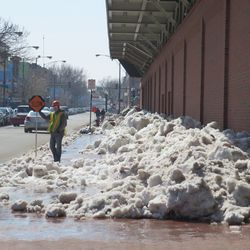Still another view of the snow piles on Sheffield