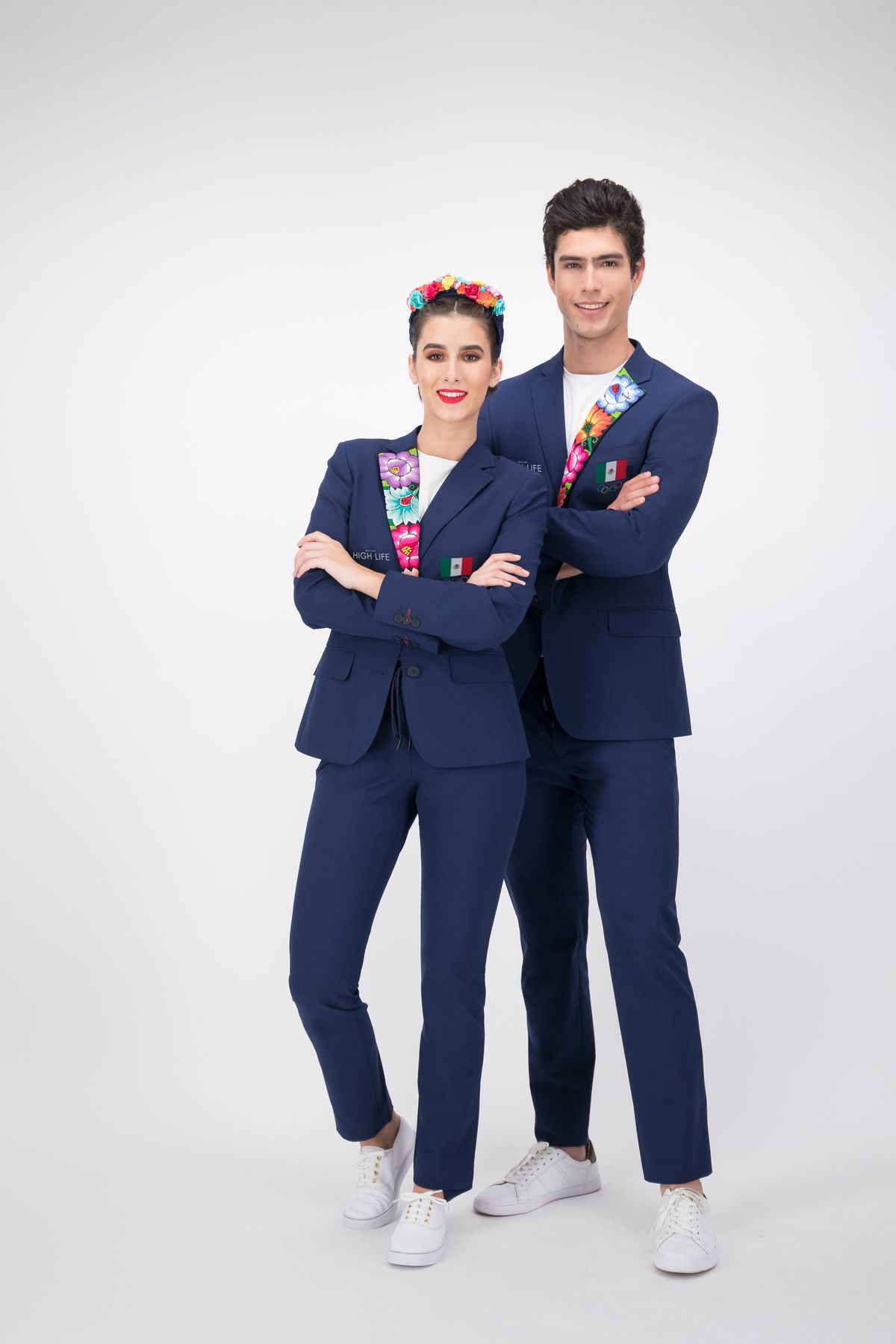 This image provided by High Life Mexico shows the opening ceremony outfits for team Mexico.