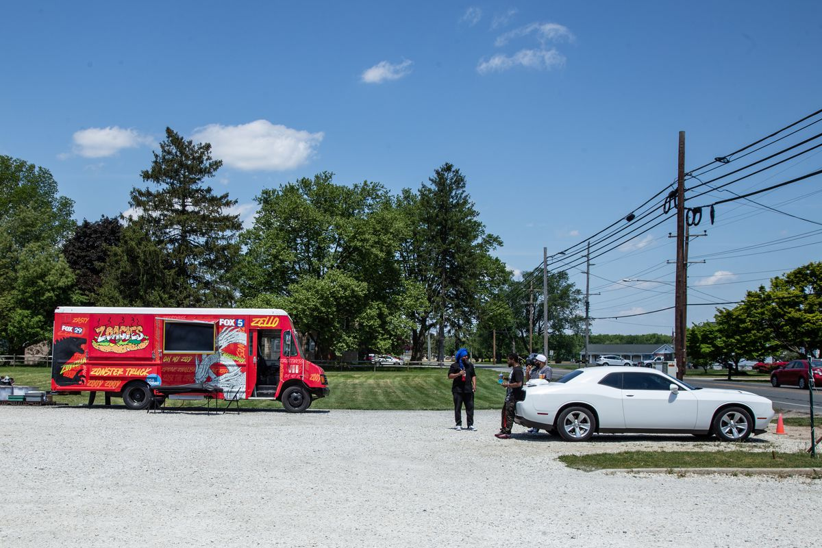 the zoagies food truck parked in a parking lot in pennsville new jersey