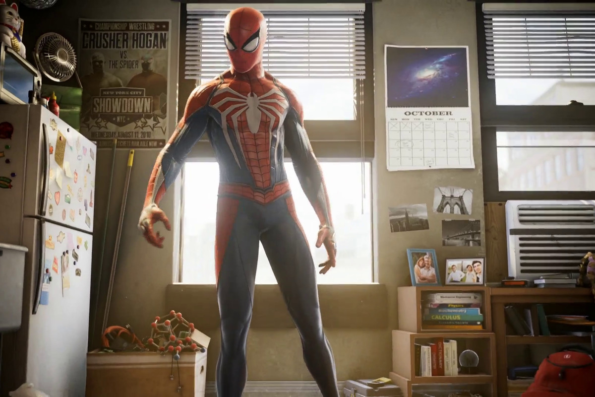 Spider-Man - standing in a kitchen