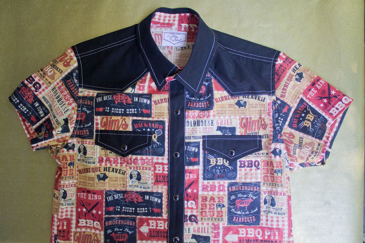 A barbecue-printed Western shirt from Western Whims