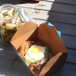 The Citizen's Band burger, with bacon, guacamole and an egg on top