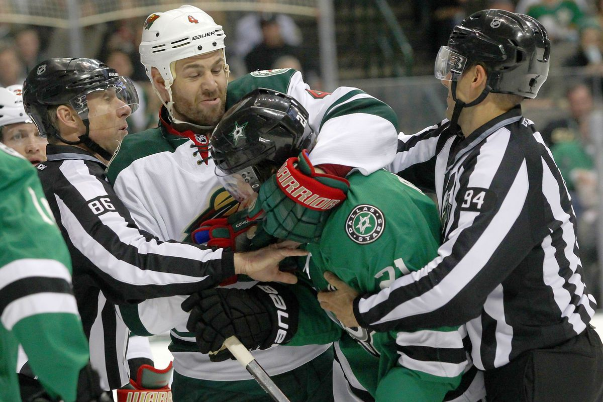 Antoine Roussel gets hugs from opponents even!