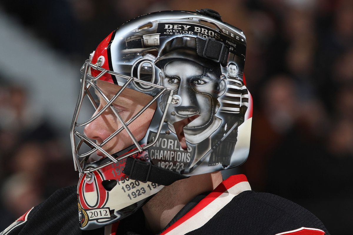Craig Anderson has 36 career wins (so far) with the modern-day Ottawa Senators. Clint Benedict, who Anderson honoured on his heritage mask, had 98 career wins with the original Senators franchise.