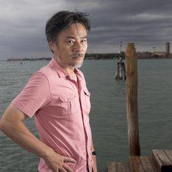 Director Kiyoshi Kurosawa poses for portraits at the 69th edition of the Venice Film Festival in Venice, Italy, Saturday, Sept. 1, 2012.