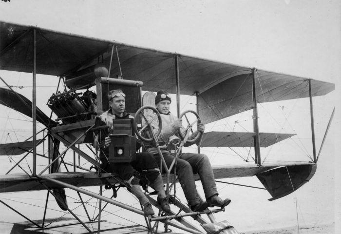 W.L. Richardson and his co-pilot