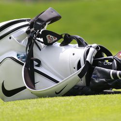 Brooks Koepka's golf bag in the 2019 Travelers Championship Third Round at the TPC River Highlands in Cromwell, CT on June 22, 2019.