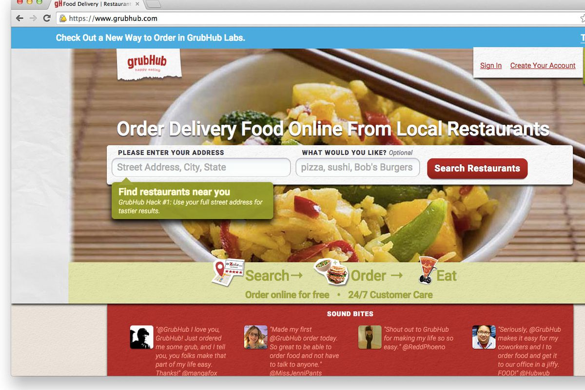 Online Food Ordering Site Grubhub Which Merged With Seamless In 2017 Wants To Start Their Own Delivery Service The Company Has Seen An Incredible About