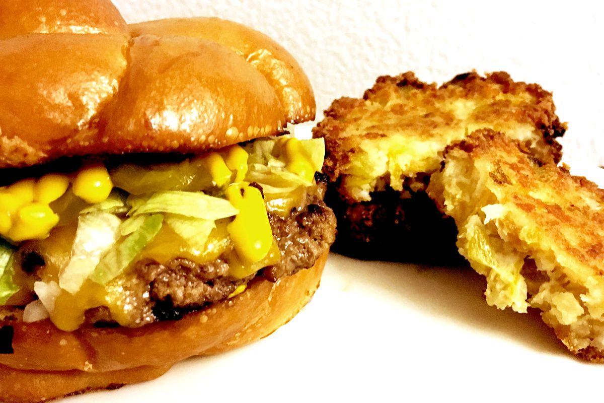 Burgers and latkes from JewBoy Burgers