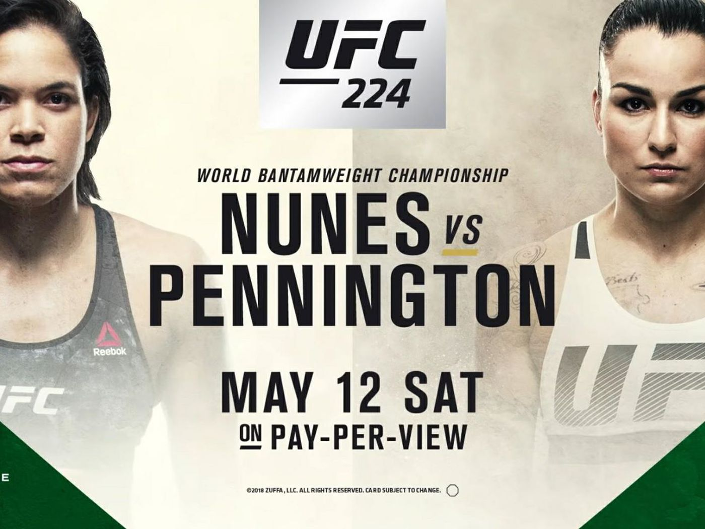 Image result for UFC 224: Nunes vs. Pennington 2018 Live