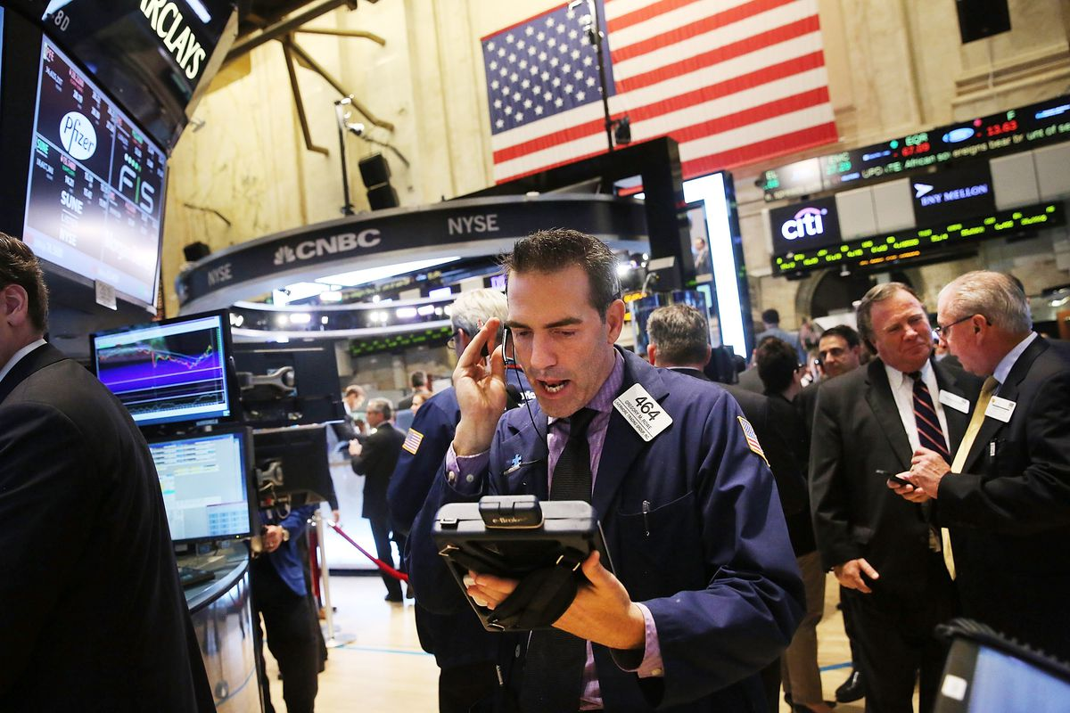 Panic was everywhere at the NYSE on Wednesday, when the stock market dove by more than 460 points.