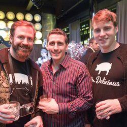 Public's Brad Farmerie (center)