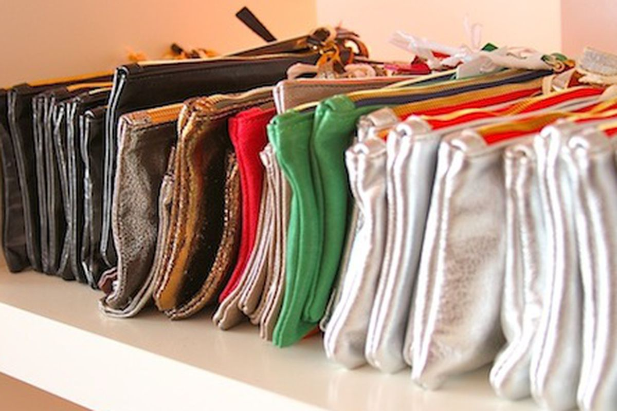 """Clare Vivier bags from the sale last year. Image via <a href=""""http://mondette.com/2011/04/13/events-i-got-lucky-at-lucky-shops-la/"""">Mondette</a>"""