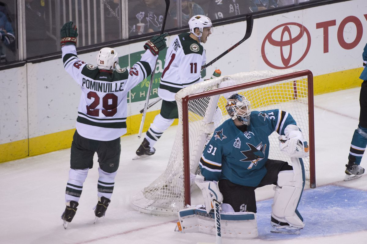 Martin Jones has helped the Sharks get back in the playoff bubble, but Zach Parise can still solve him.