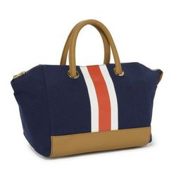 """<a href=""""http://www.cwonder.com/shoes-bags/shop-by-category/luggage/collegiate-stripe-winged-tote.html""""> C. Wonder Collegiate Stripe Wing Tote</a>, $78 cwonder.com"""