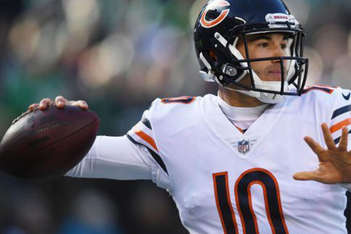10332184881 Bears quarterback Mitch Trubisky saw his first action of the preseason  Thursday night. (USA Today photo)