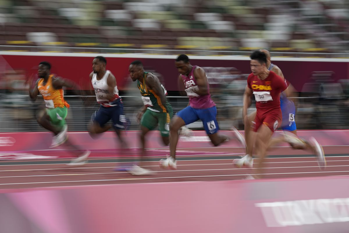 Ronnie Baker was the third leg in the U.S. men's 4x100m relay team that failed to advance out of the heats at the Tokyo Olympics.