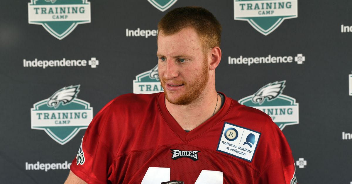 Carson Wentz hopes to return to 11-on-11 in Eagles practice next week