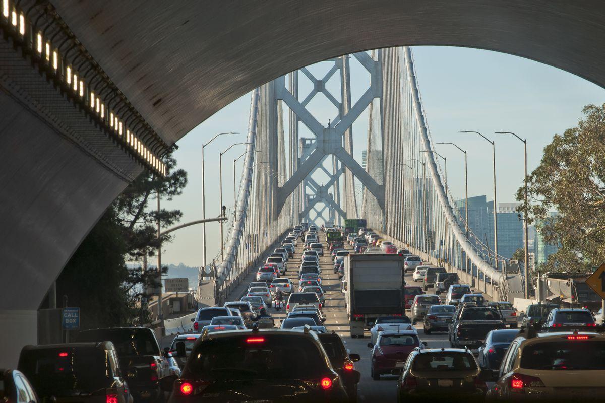 Traffic on the Bay Bridge.