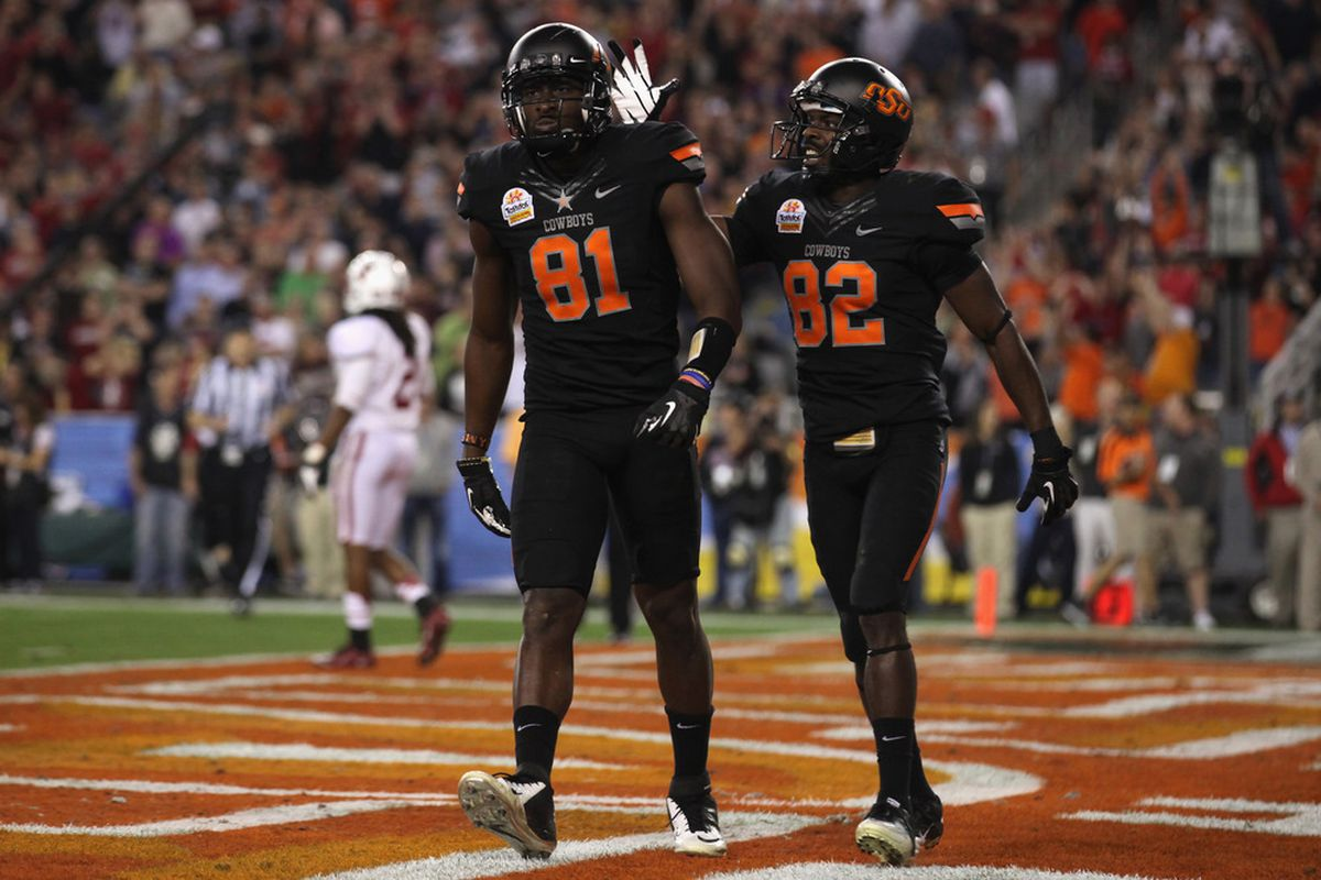 Oklahoma St. loses a major part of their offense in Justin Blackmon (81). Where will the production come from next year and where will they finish realistically in the Big XII?