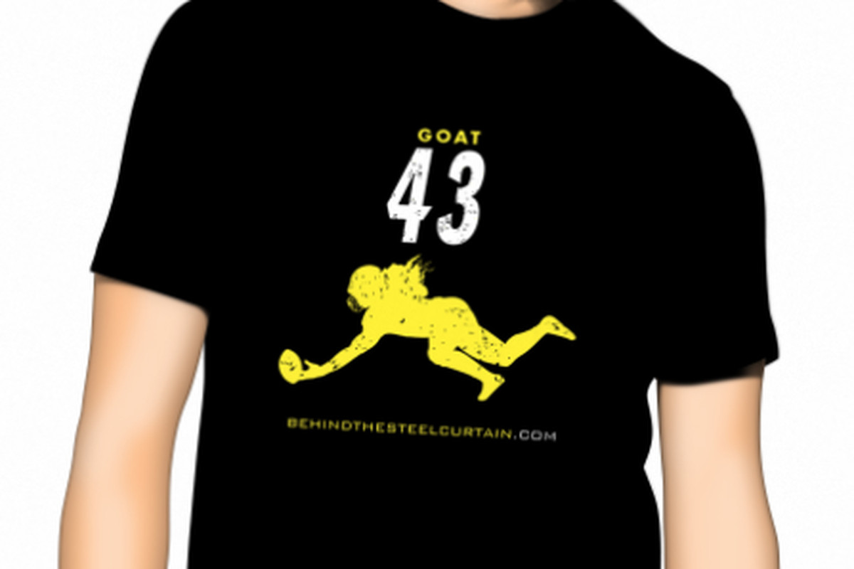 582d882c0 Honor the legendary Steelers safety Troy Polamalu with the newest BTSC   GOAT  t-shirt
