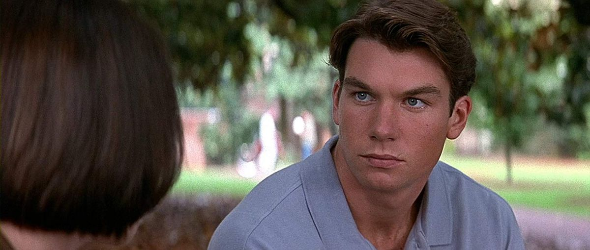 derek (jerry o'connell) intensely stares at sidney