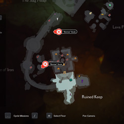 The four Soul Caches in The Slag Pit