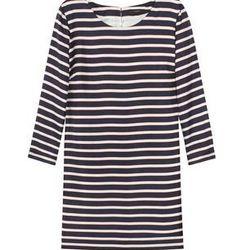"<a href=""http://www.net-a-porter.com/product/319506"">Helena striped silk-twill mini dress by <b>J.Crew</b>,</a> $56.40 (was $188)"
