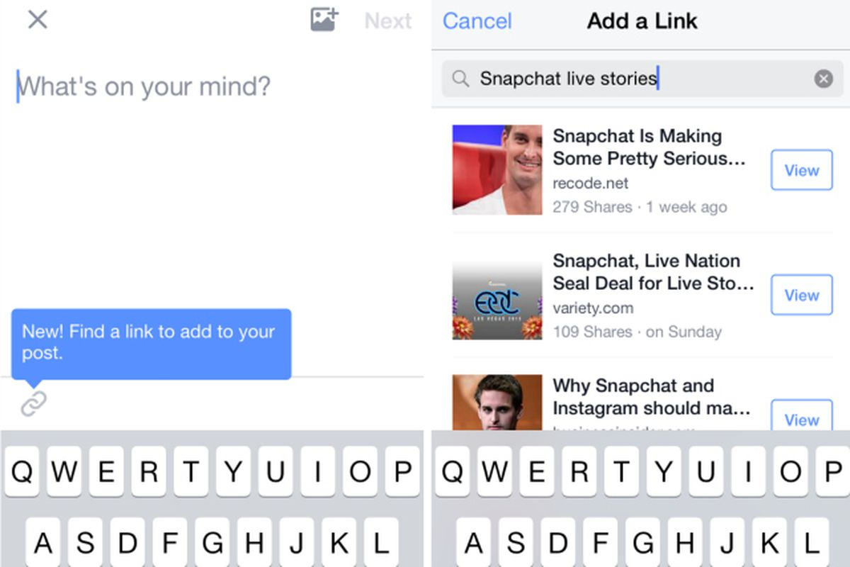 Facebook Makes It Easier to Share Links Without Ever Leaving