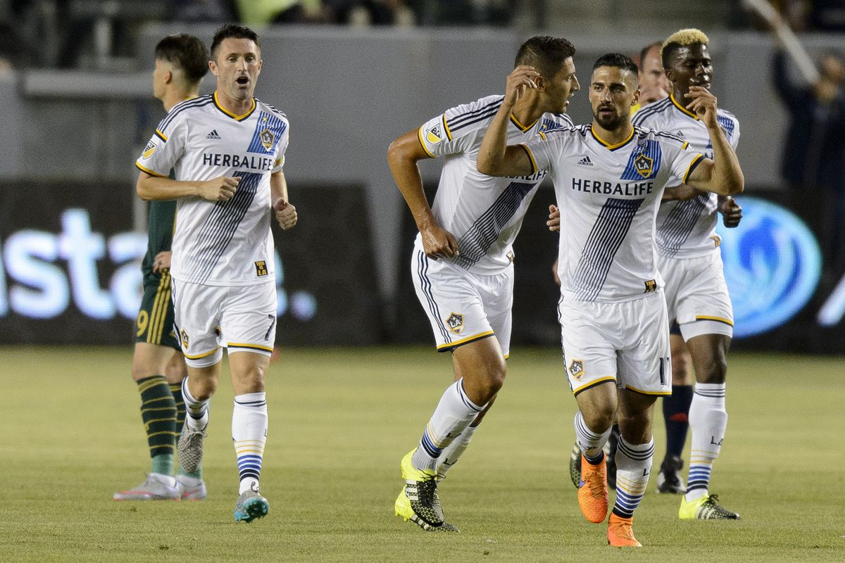 Sebastian Lletget and Robbie Keane were too much for the Portland defense to contain