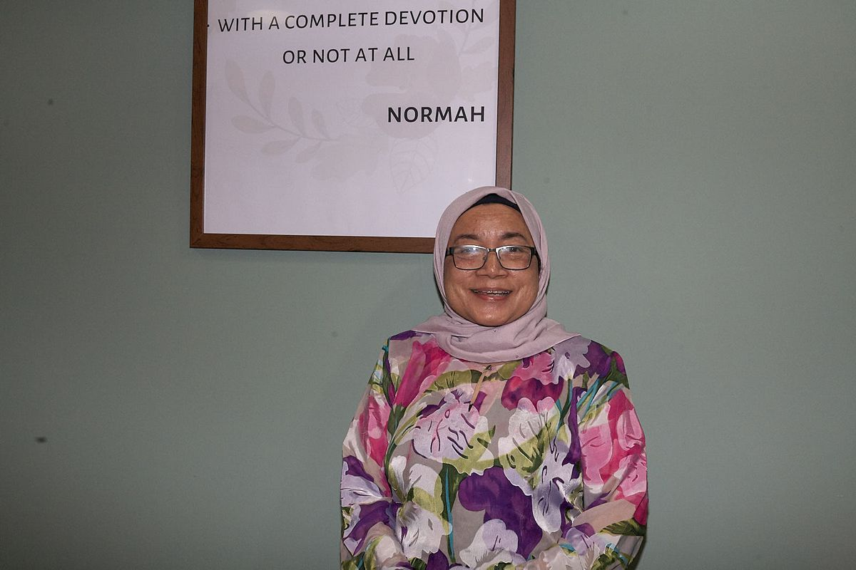 Normah Abd Hamid, before lockdown at her Malaysian restaurant Normah's, one of the best value places to eat in London