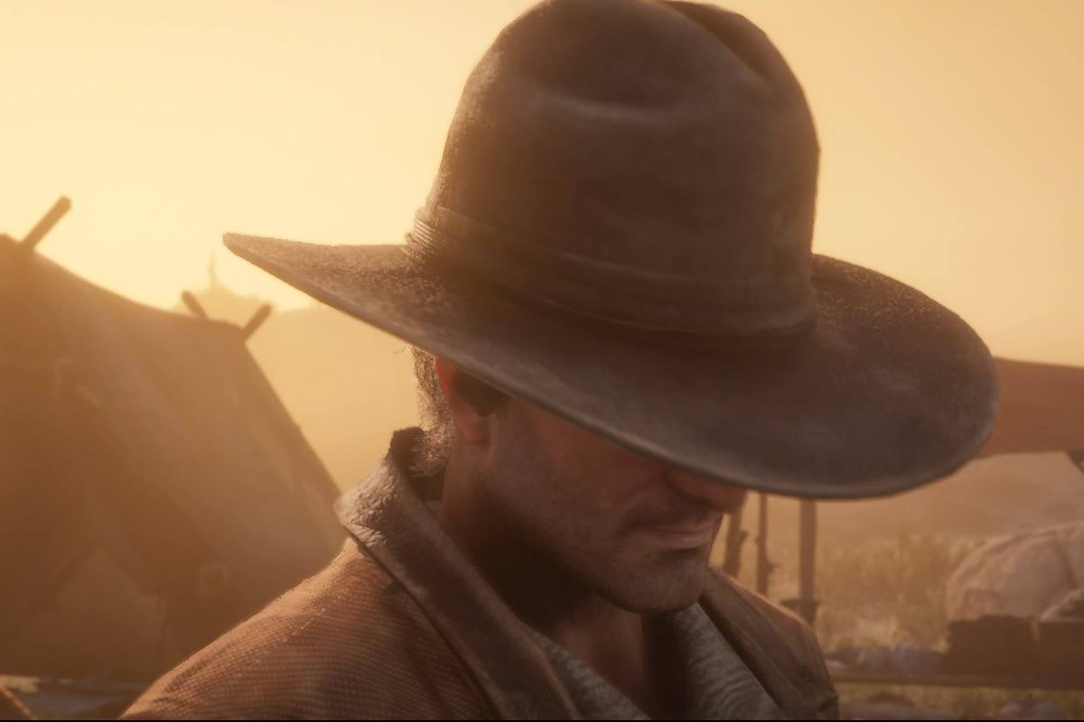 Red Dead Online - a cowboy broods knowingly