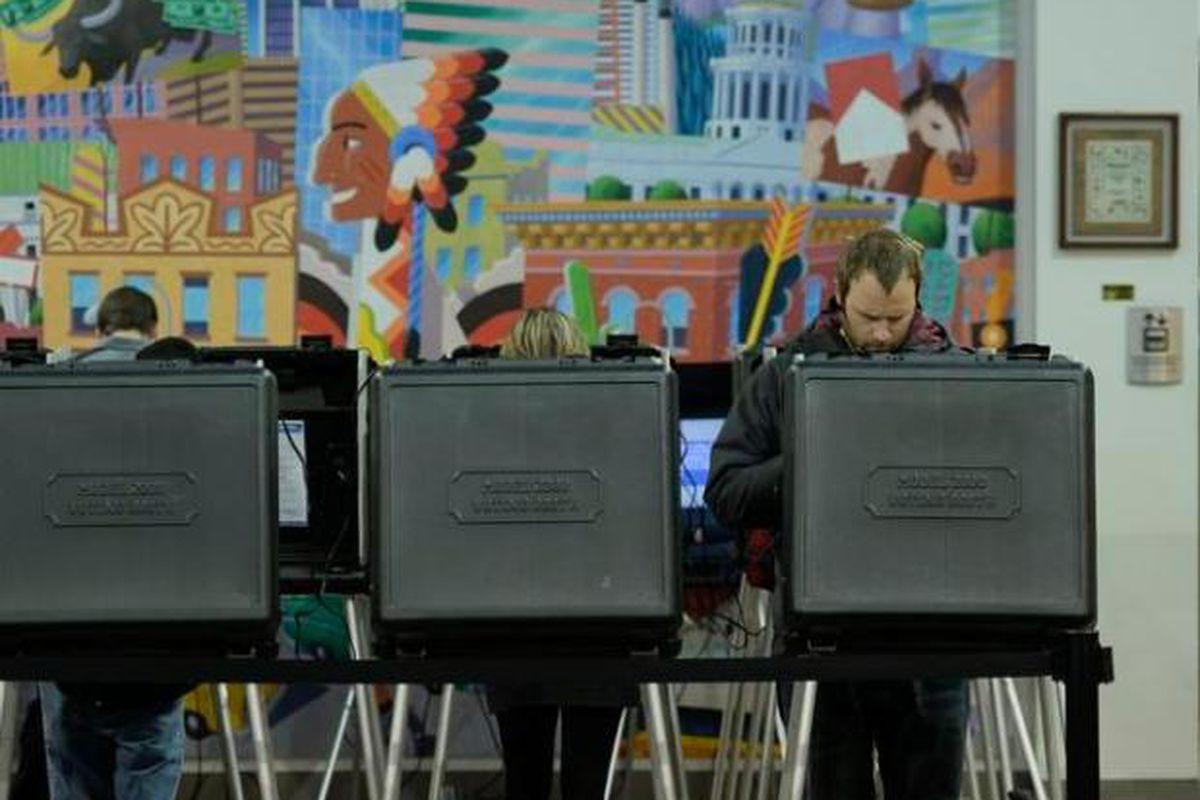 Voting day 2014 in Denver (Photo by RJ Sangosti/The Denver Post).
